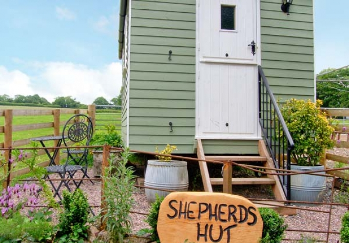 Shepherd's Hut in Leighton in Shropshire