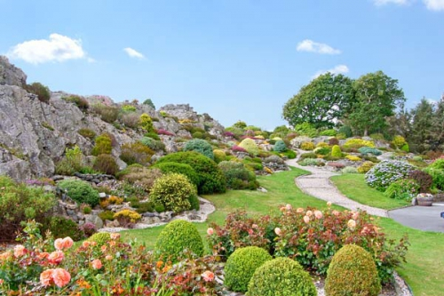 A stunning garden built into a rockface overlooking Cardigan Bay and Snowdonia in Wales