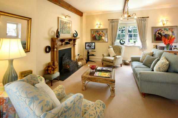Lounge at Grosvenor cottage in Ross-on-Wye Herefordshire