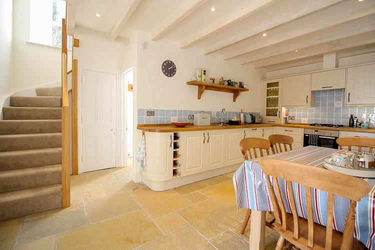 Hallane Mill in Cornwall kitchen