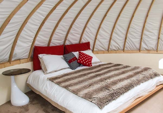 Secret Island Yurt in Beckford in Gloucestershire