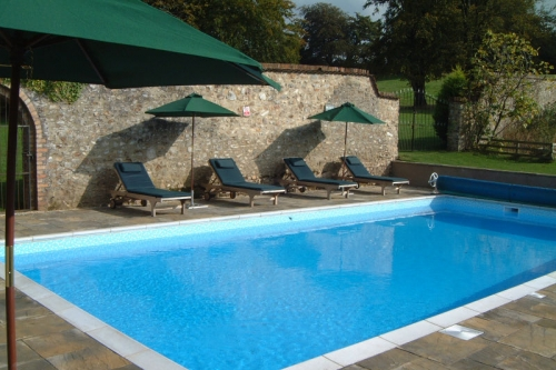Swimming pool at Widcombe Grange in Somerset