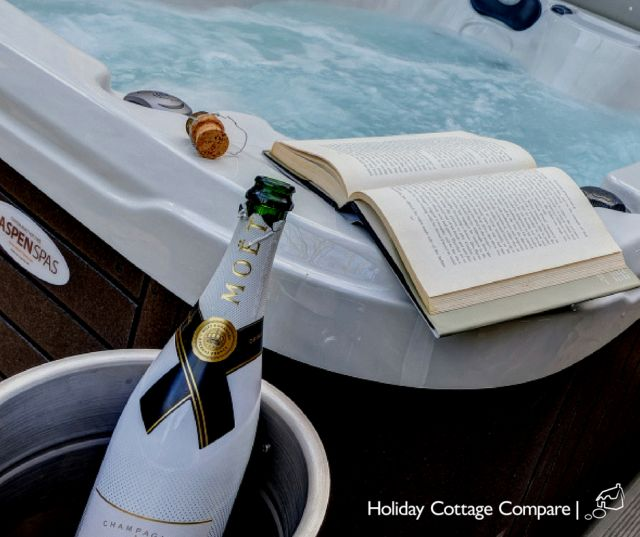 hot tub and champagne