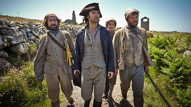 BBC period drama, 'Poldark', starring Aiden Turner as Ross Poldark