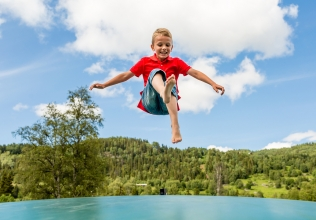 Trampoline holiday cottages
