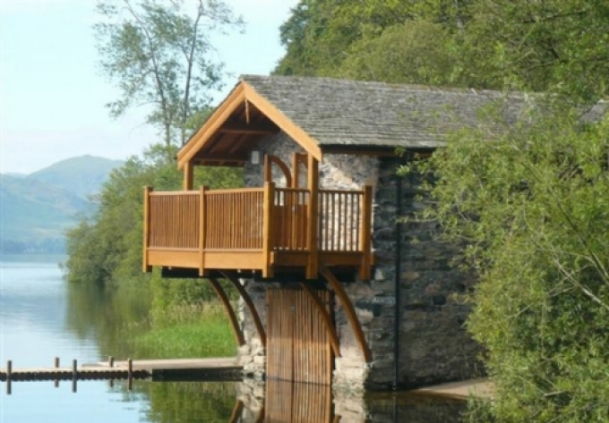 Boathouse in pooley bridge lake district cumbria - Luxury cottages lake district swimming pool ...